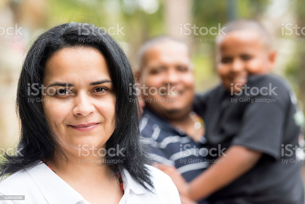 Hispanic family (real people) stock photo