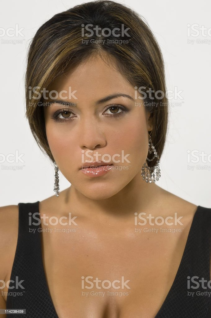 hispanic female model royalty-free stock photo
