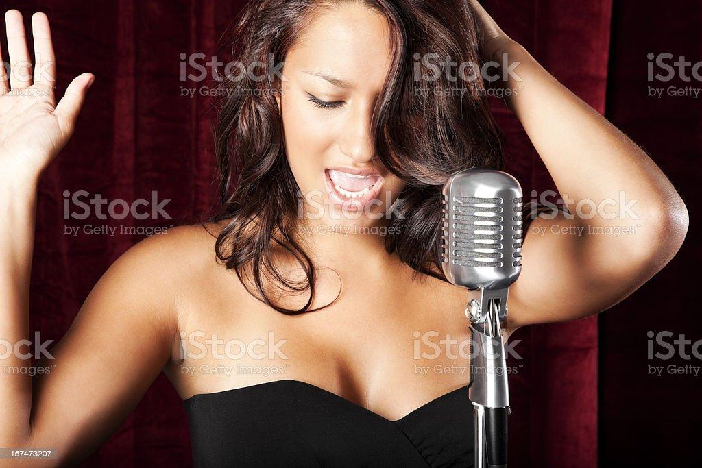 Hispanic Female Singer royalty-free stock photo