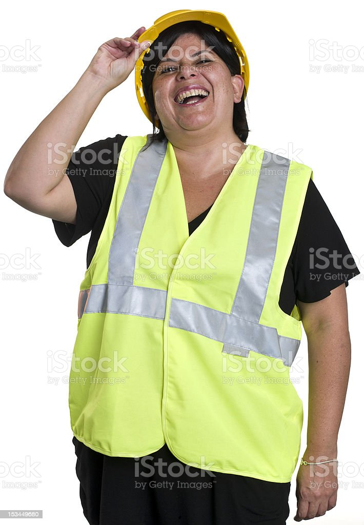 Hispanic female worker royalty-free stock photo