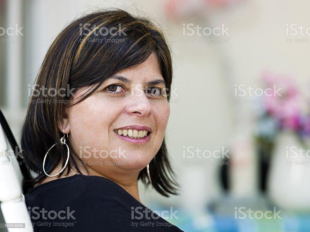 Mulher hispânica quarenta algo - foto de acervo
