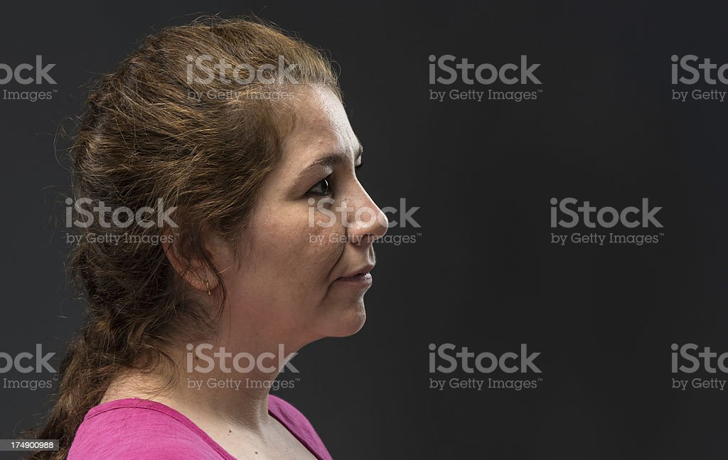 Hispanic forty something woman stock photo
