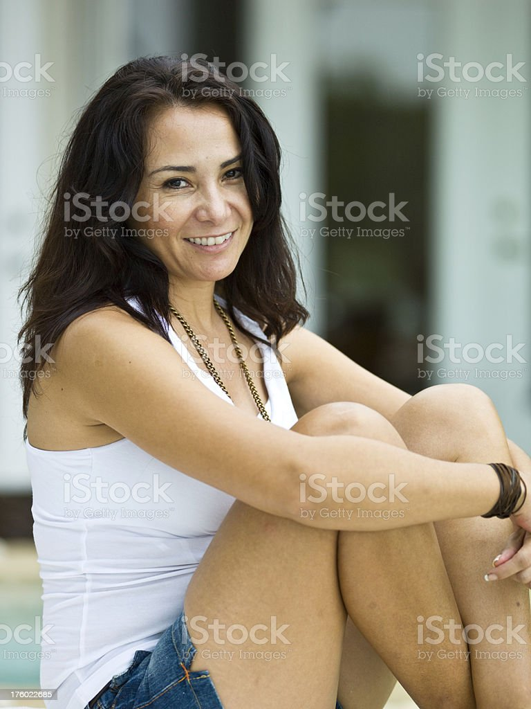 Hispanic fortysomething stock photo