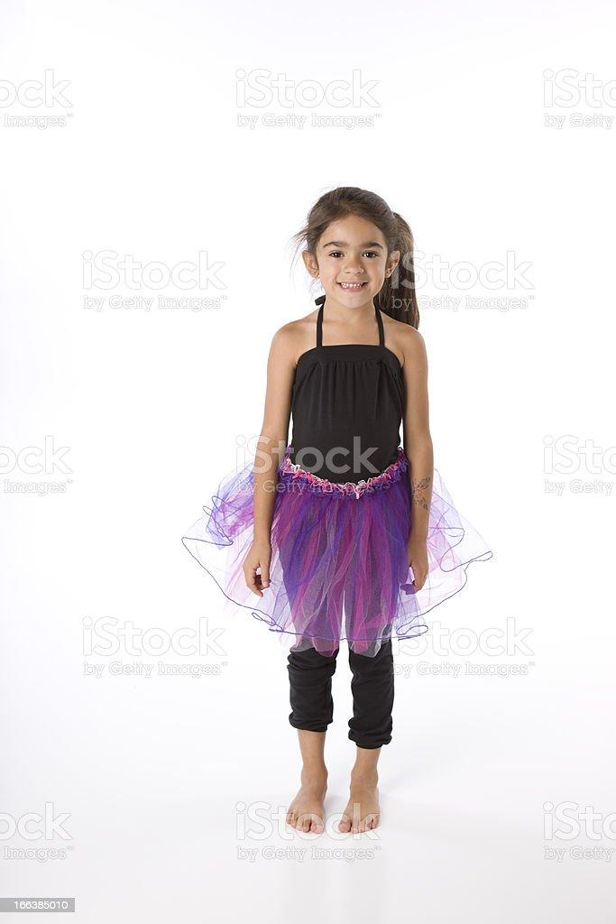 Hispanic Girl Dances Ballet royalty-free stock photo