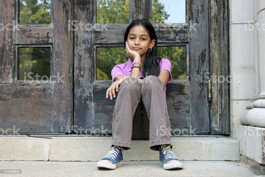 Hispanic Girl Portrait stock photo