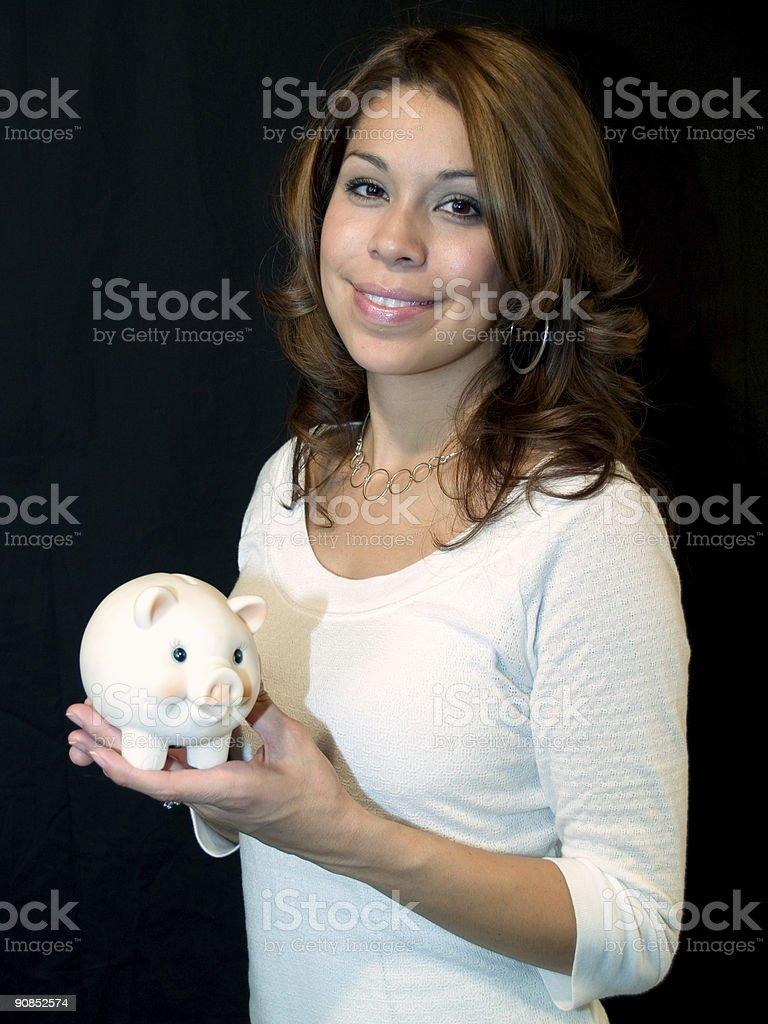 Hispanic lady royalty-free stock photo