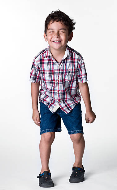 Hispanic little boy stock photo