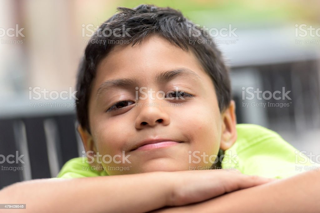 Hispanic Little boy stock photo