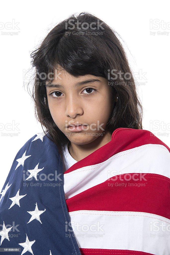 Hispanic little girl stock photo