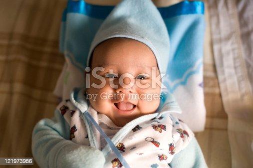 istock Hispanic male baby smiling 121973986
