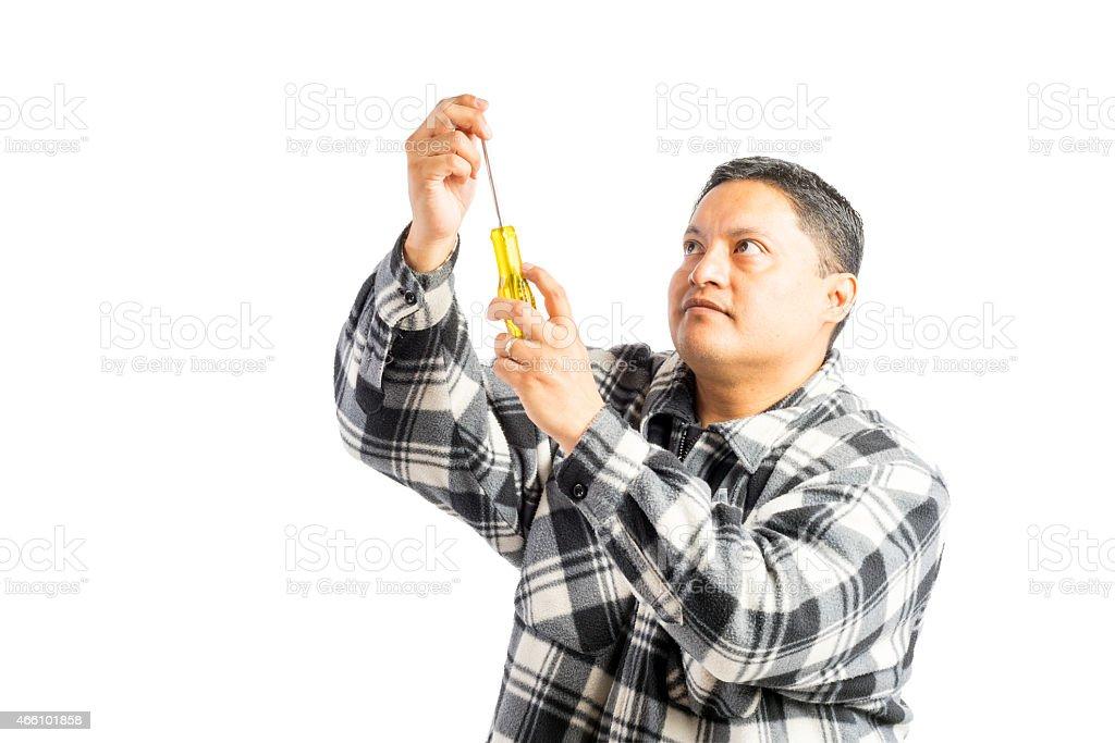 Hispanic Male Healthcare Professional Shows Concern stock photo