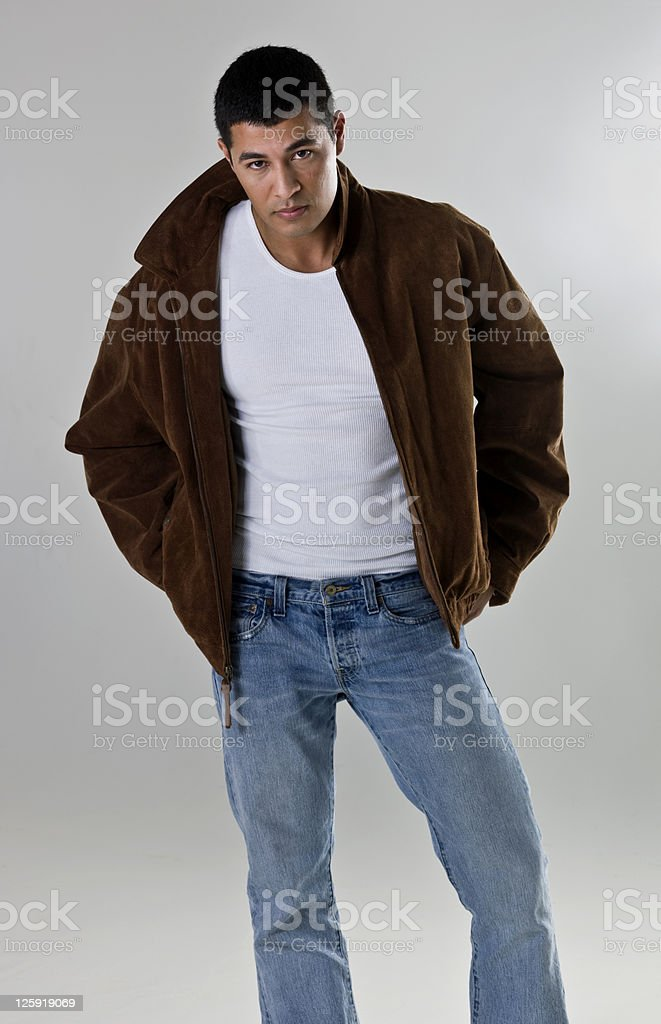 Hispanic male model stock photo