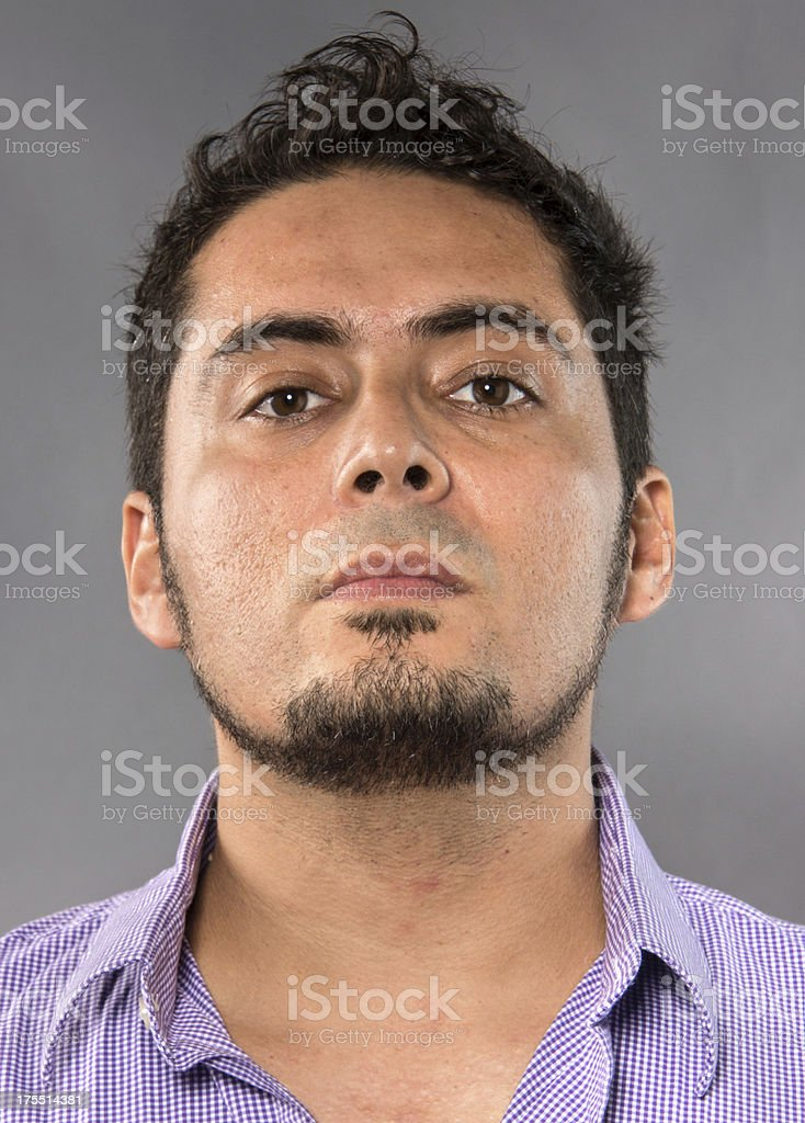 Hispanic man headshot stock photo