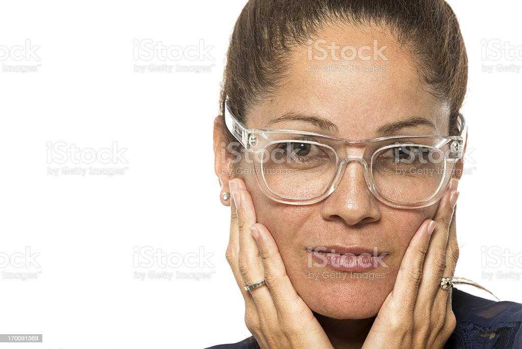 Hispanic mature woman royalty-free stock photo