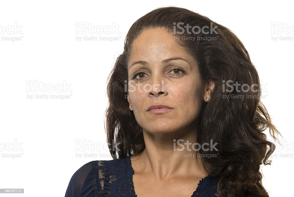Hispanic mature woman stock photo