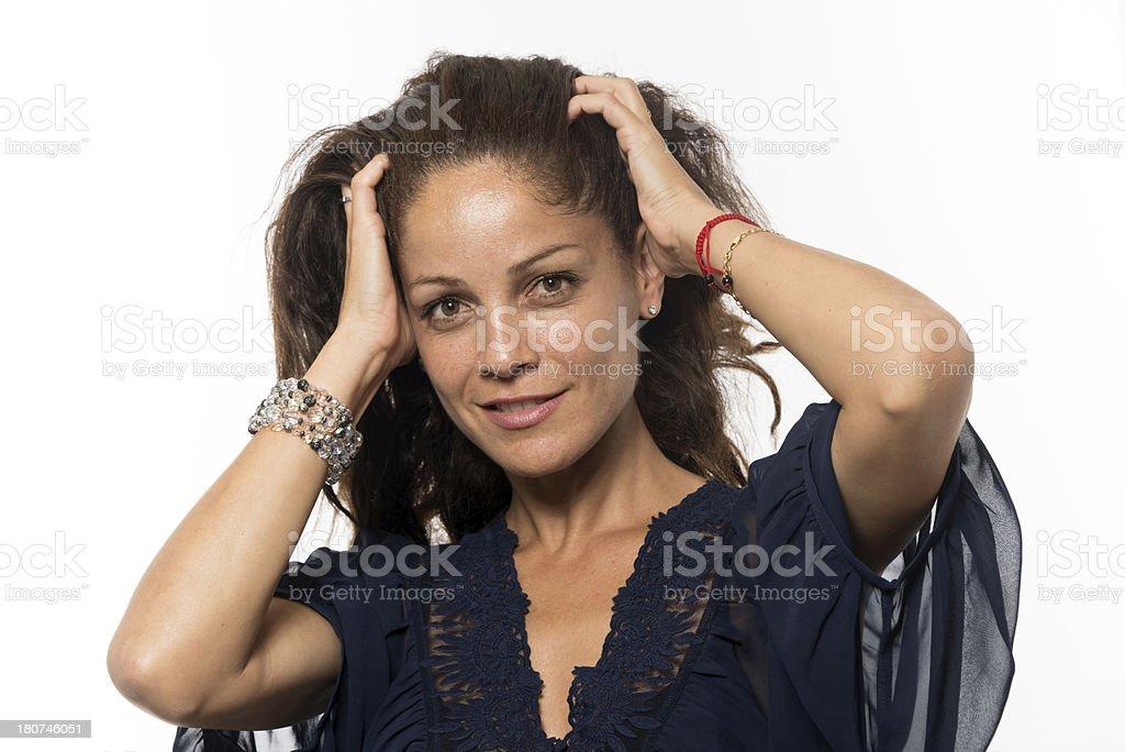Hispanic mature woman royalty-free stock photo