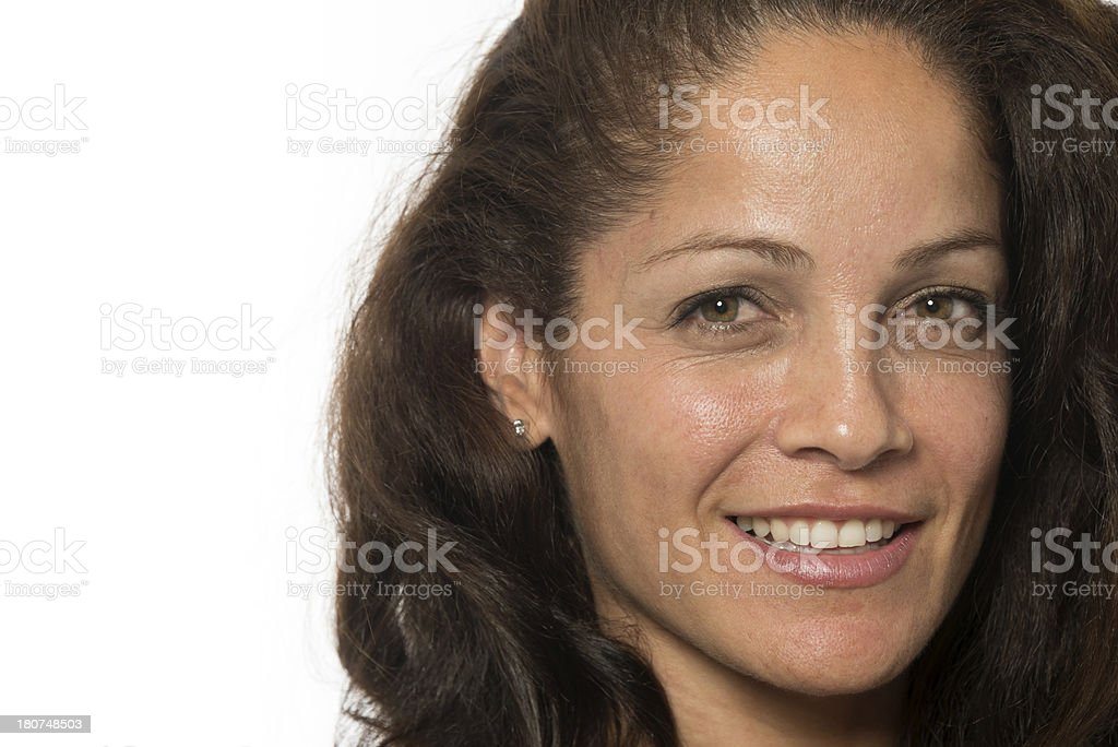 Hispanic mature woman (no make up) stock photo