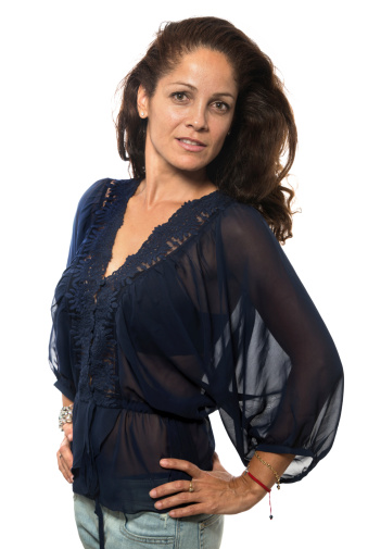 Hispanic Mature Woman Stock Photo - Download Image Now