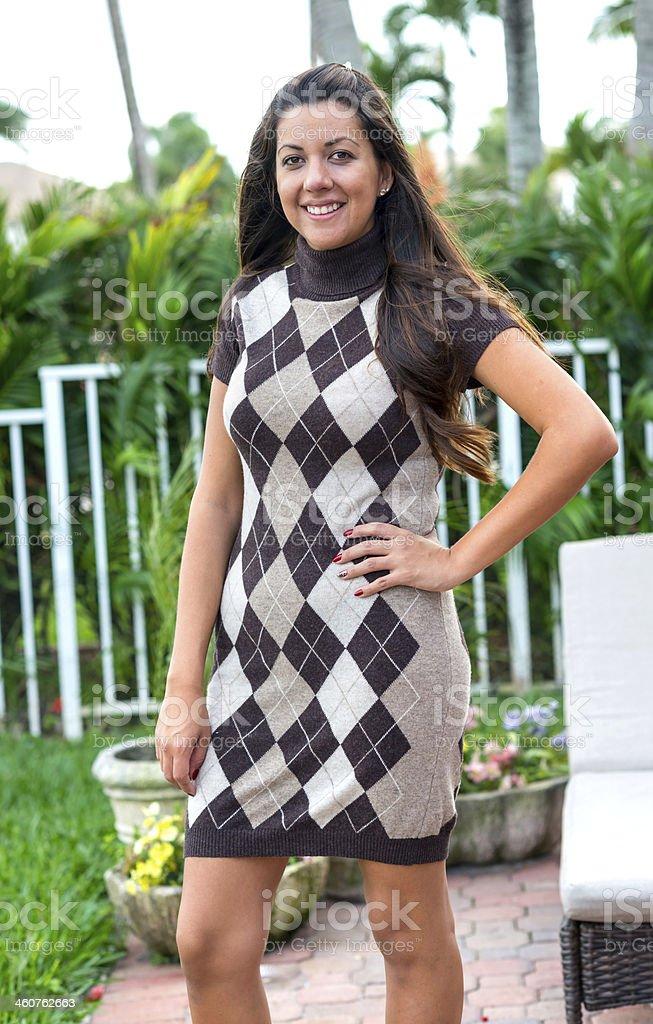 Hispanic mid adult woman royalty-free stock photo