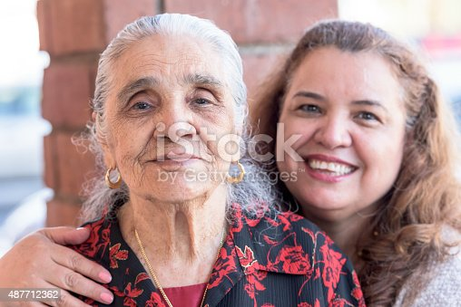 istock Hispanic mother and daughter 487712362