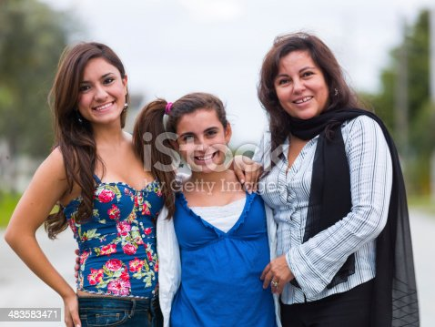 istock Hispanic mother and daughters 483583471