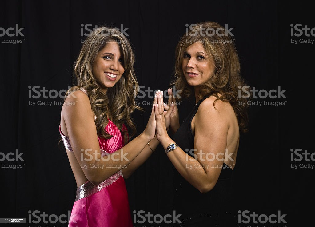 Hispanic mother and her daughter royalty-free stock photo