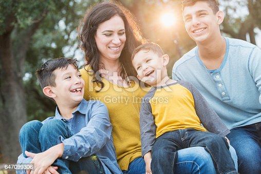 istock Hispanic mother with her three boys 647099306