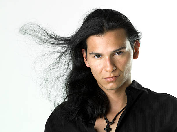 Royalty Free Native American Man Long Hair Pictures Images And