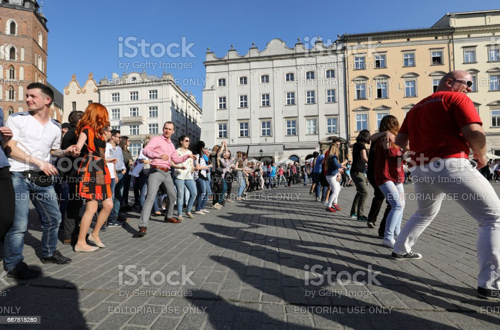Hispanic rhythms on the Main Square in Cracow foto stock royalty-free