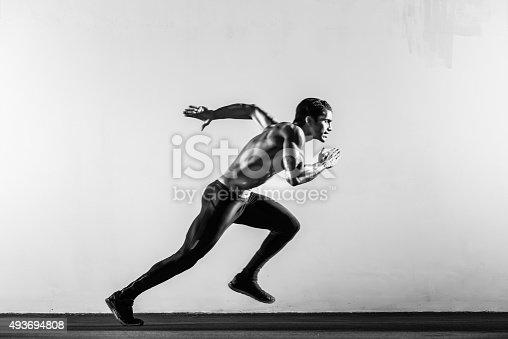 istock Hispanic Runner 493694808