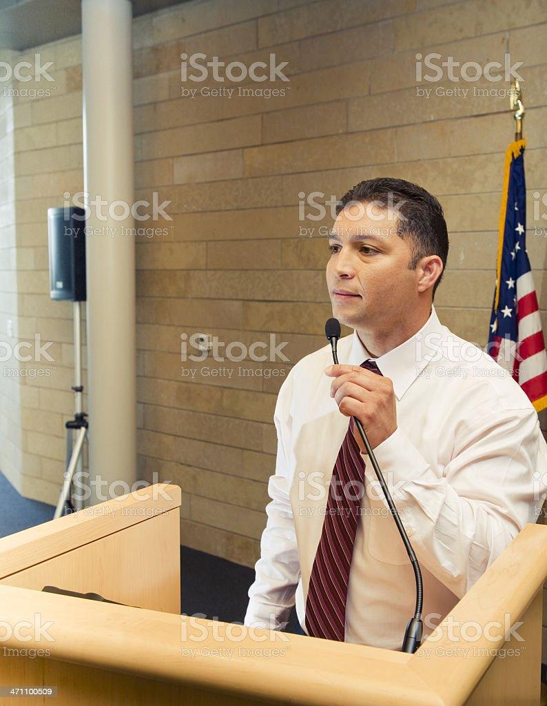 Hispanic Spokesperson royalty-free stock photo