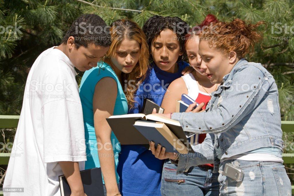 Hispanic students royalty-free stock photo