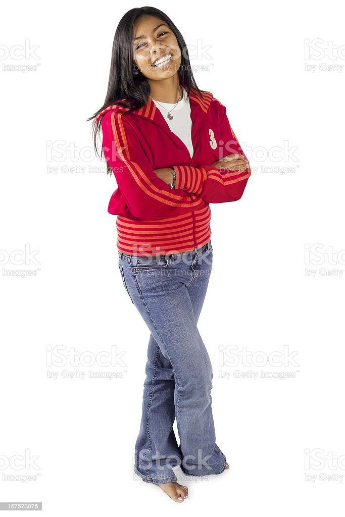 Латиноамериканцы Teen в красный стоковое фото