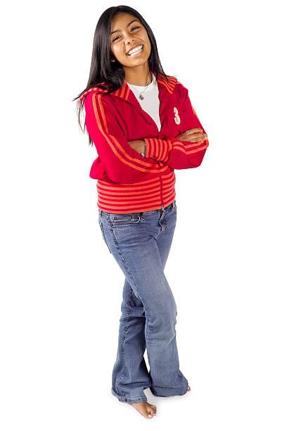 Hispanische Teen in Rot – Foto