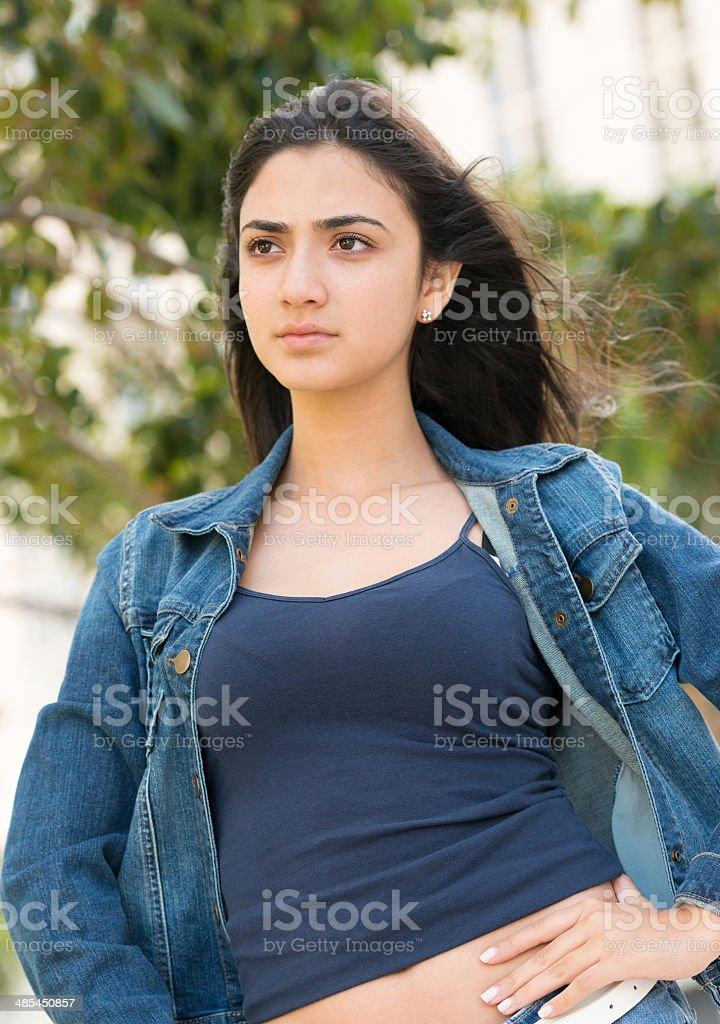 Hispanic teenage girl stock photo