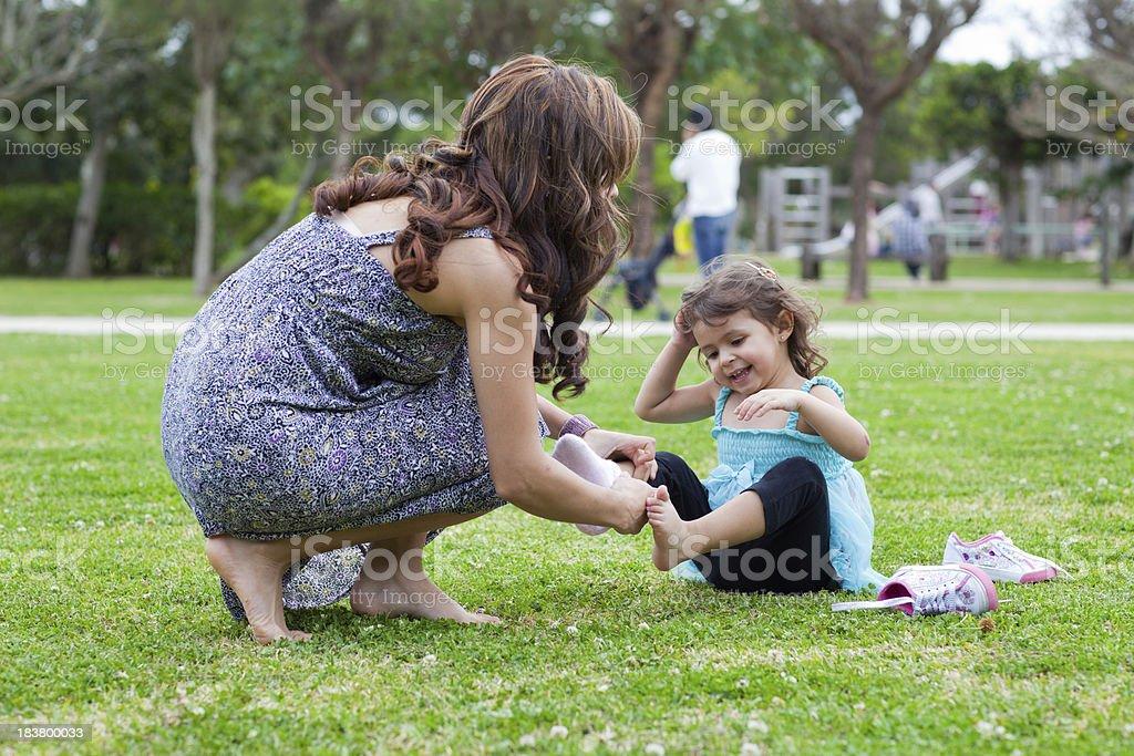 Hispanic Woman and Daughter royalty-free stock photo