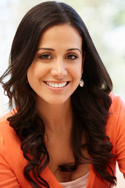 hispanic woman portrait - 30 39 years stock photos and pictures