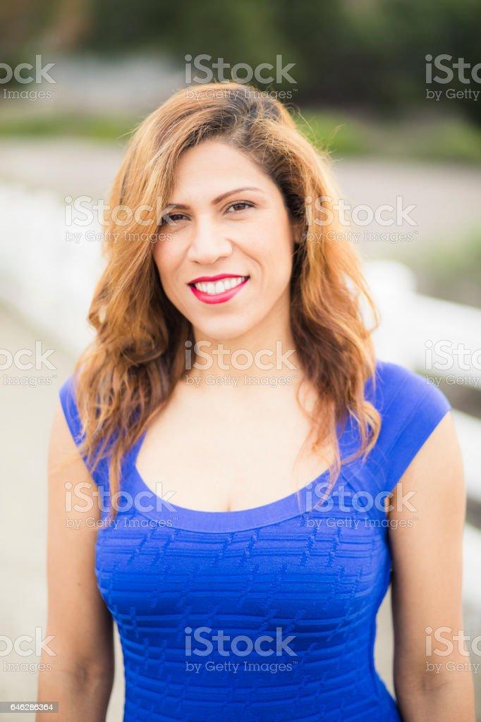 Hispanic Woman Portrait stock photo