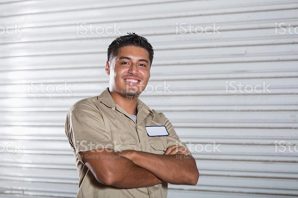 Hispanic worker stock photo
