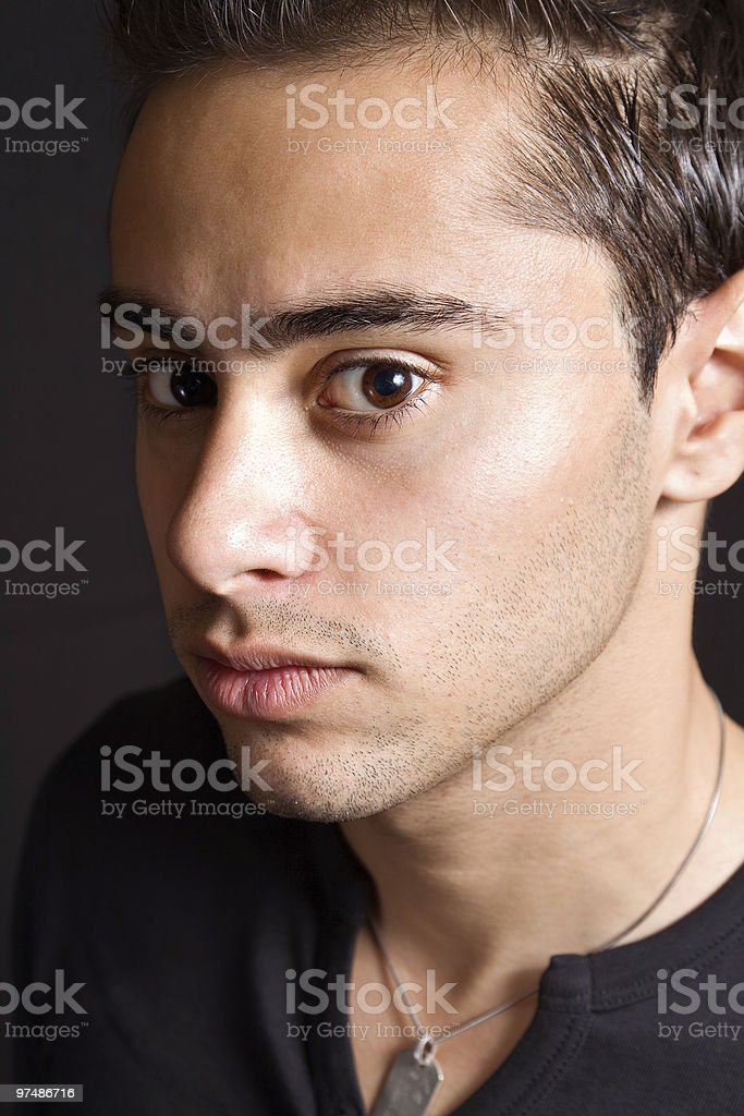 Hispanic young man royalty-free stock photo
