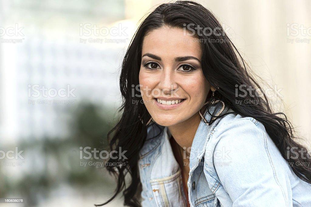 Hispanic Young Woman royalty-free stock photo