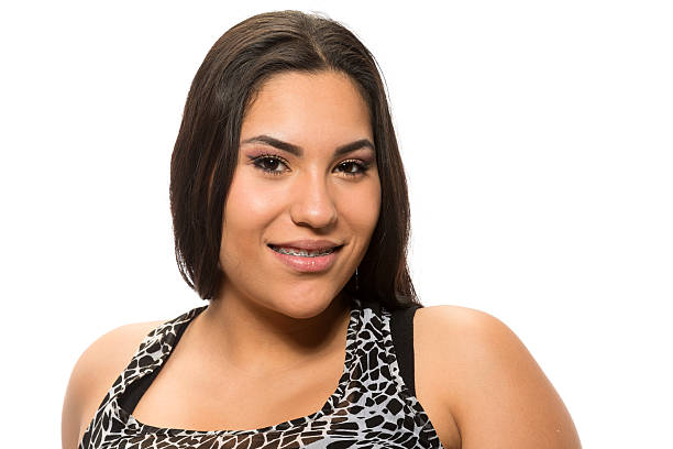 Hispanic young woman stock photo