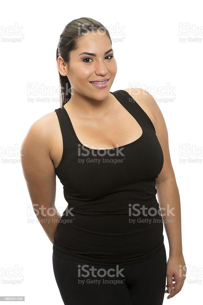 Hispanic young woman stock photo