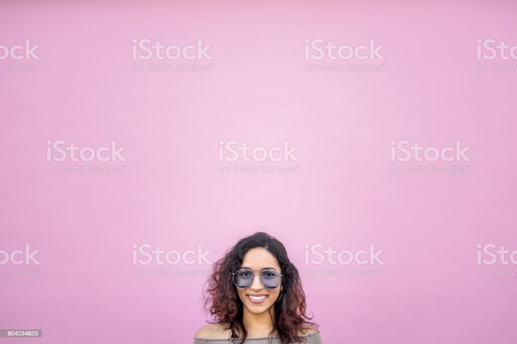 Hispanic Young woman with Positive Attitude stock photo