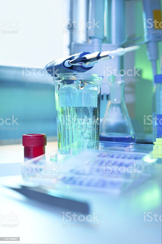 Histochemistry in process stock photo