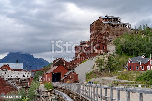 istock Historic abandoned Kennecott Mine in Wrangell-St. Elias National Park in Alaska during an overcast summer day 1054001504