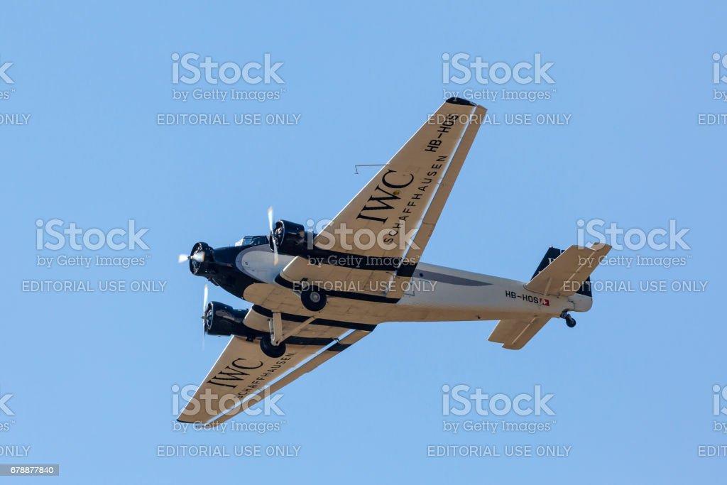 Tarihi uçak Junkers Ju 52 royalty-free stock photo