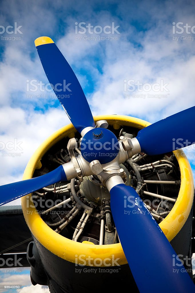 historic airplane stock photo
