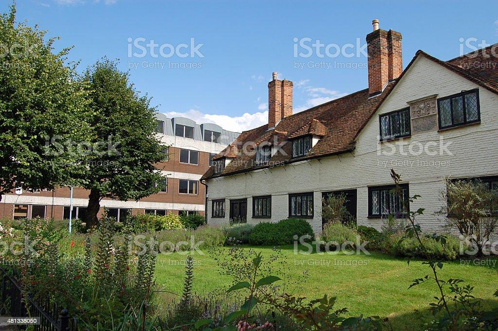 Historic Almshouses, Basingstoke, Hampshire stock photo