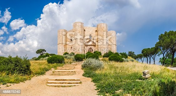 istock Historic and famous Castel del Monte in Apulia, southeast Italy 488875240